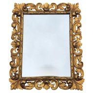 Baroque Style Scrolled Carved Wood Wall Mirror