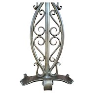 Vintage Wrought Iron Table - Desk Lamp with Shade