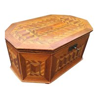 Marquetry Inlaid Jewelry - Treasure Box