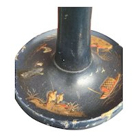 Chinoiserie Painted Wooden Table - Desk Lamp