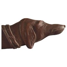 Black Forest Carved Wood Dog Letter Opener