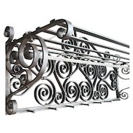 Art Nouveau Quality Scrolled Wrought Iron Art Wall Coat Rack