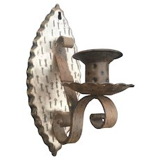 Metal Candle 1-light Wall Sconce - Holder