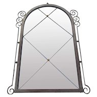 Art Deco Wrought Iron with Tinted Bronze Mirror