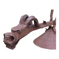 Wrought Iron 2 Head Dragon Theme Chandelier