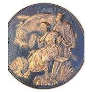 The Seducer, Vintage Copper Decorative Wall Plaque