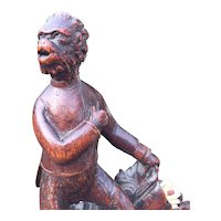 19th Century Black Forest Figural Ape man Cigarette Carousel Caddy Stand