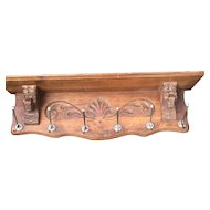 Vintage Hand Wooden Lion Coat Rack