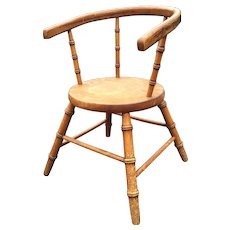 French Vintage Faux Bamboo Doll Chair