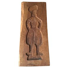 Antique Dutch Wood Carved Figural Motive Springerle Cookie Mold