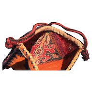 Vintage Hand-knotted Persian Bag