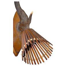 Vintage Wood - Deer Antler Wall Sconce Hunting