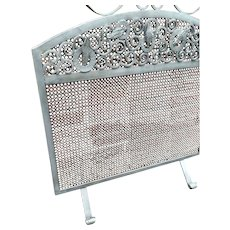 Vintage Wrought Iron Art Fire Place Screen