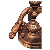1920 Vintage Carved Figural Chandelier