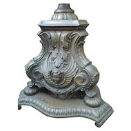 French Vintage Bronze Floor Lamp with Winged Putti