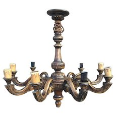Huge Flowery Crafted 9 Arms Chandelier