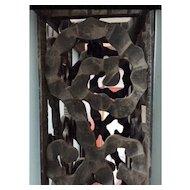 Rare Art Deco Wooden Chandelier - Lantern