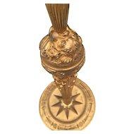 Gilt Bronze Empire Putti Table Lamp