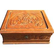 France Art Nouveau Floral Crafted Box Casket