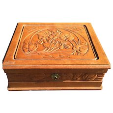 France Art Nouveau Floral Crafted Box Casket