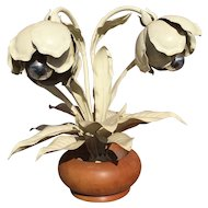 Vintage Large Metal Flower - Plant