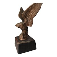 Vintage Metal Eagle - Bird of Pray Wooden Base