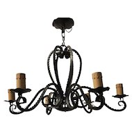 Wrought Iron Pendant Chandelier  Octopus or Spider Design