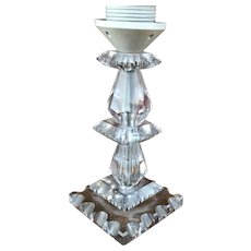 Vintage Modern Stacked Glass Table Lamp