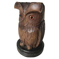 1930 Black Forest Desk Pen Holder in a Shape of a Owl