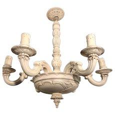 Art Nouveau Wooden Pendant Light, Chandelier