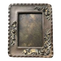 Art Nouveau Gilded Copper Photo Picture Frame