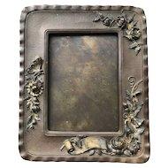 Art Nouveau Gilded Copper Photo Picture Frame