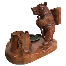 1920/30 Black Forest Bear Smokers Ashtray Comfort
