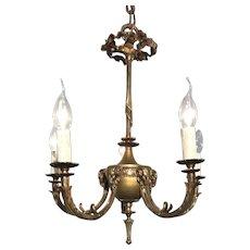 Bronze Five Light Ram Design Chandelier,