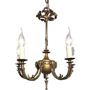 Bronze Five Light Ram Heads Design Chandelier,