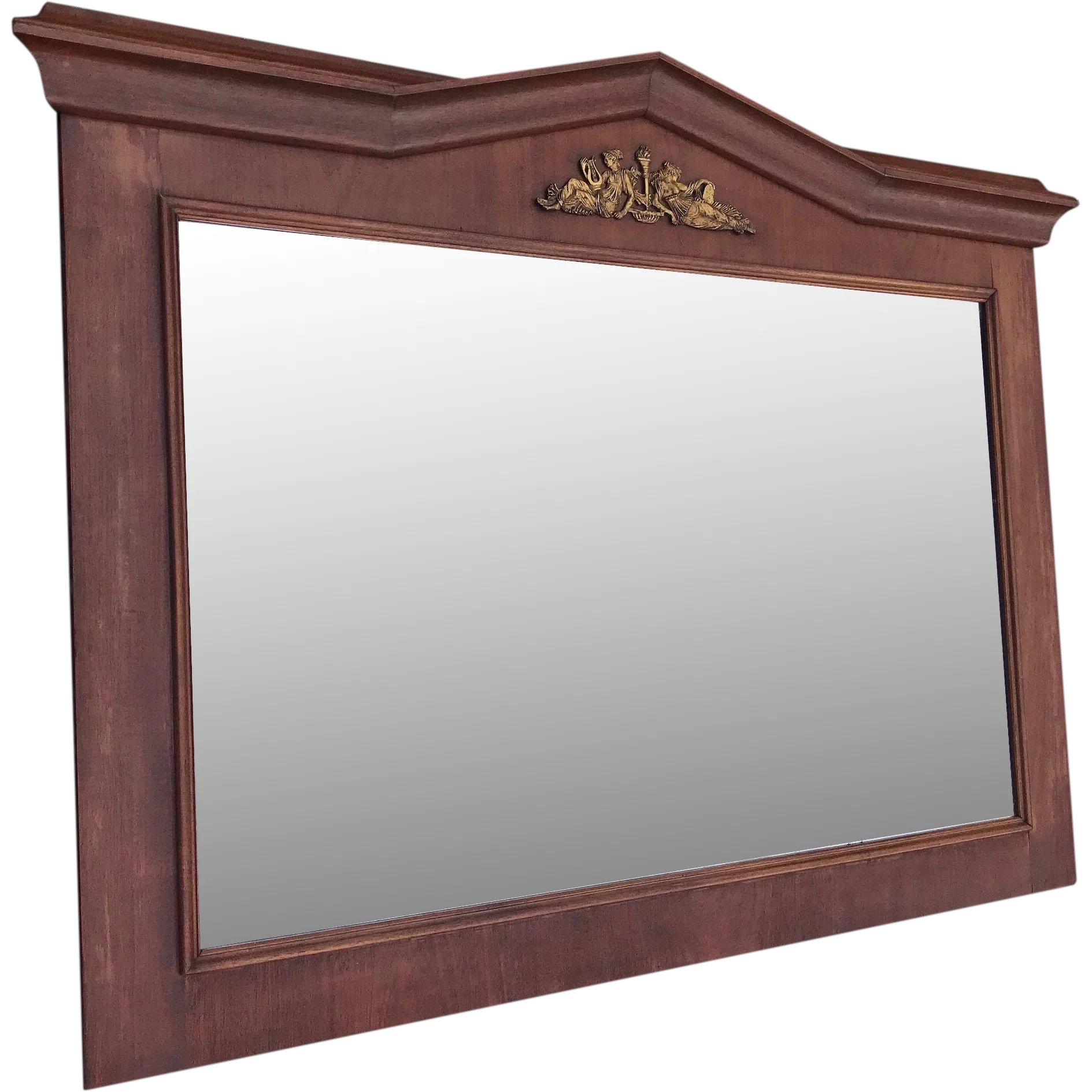 Antique Empire Style Mirror in Mahogany Frame with Bronze : Europe ...