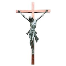 Amazing and Detailed Early 1900s Carved Wall Crucifix, Corpus of Christ
