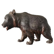 Antique Black Forest Carved Bear Sculpture