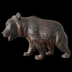 Antique Black Forest Carved Bear Sculpture
