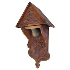 Antique, Early 1900 Folk Art Hand-Crafted House Gong / Bell for Wall Mounting