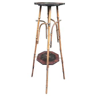 Antique Bamboo Display Plant Stand