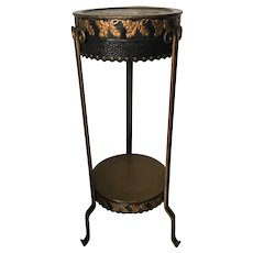 Turn of the Century Wrought Iron Art Deco Sculpture or Plant Stand Table