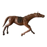 Vintage Leather Horse Manufactured by Abercrombie & Fitch.
