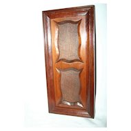An English Antique Carved Wooden Double Picture Frame