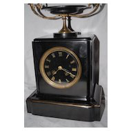 19th Century Black Marble Shelf / Mantel Clock