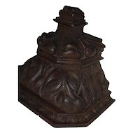 A Huge Heavy Antique Carved Wood(oak) Gothic Art Wall Bracket Shelf