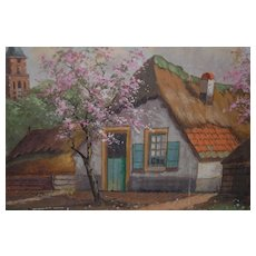 A Lovely Oil Landscape Painting