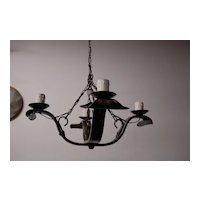 An Old Spanish Wrought Iron 4-light Chandelier