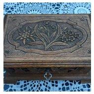 Swiss Black Forest Wood Jewellery Box