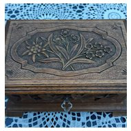 Swiss Black Forest Wood Jewellery Box
